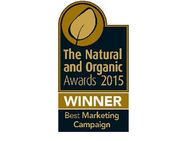 Viridian Nutrition wins 'Best Marketing Campaign 2015' award.