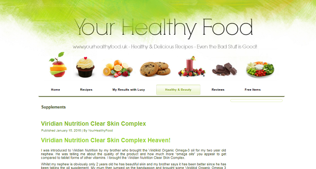 REVIEW: Clear Skin for blogger 'Your Health Food'