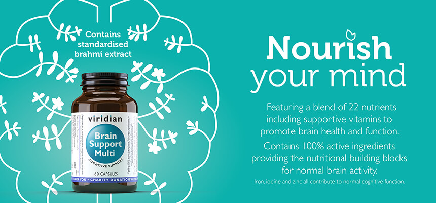 Viridian Nutrition Brain Support Multi - Nourish your mind