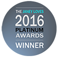 WINNER 2016 Janey Lee Grace Platinum Awards