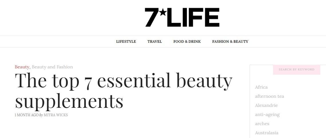Viridian Nutrition Essential Female Multi named top essential beauty supplement in luxury magazine
