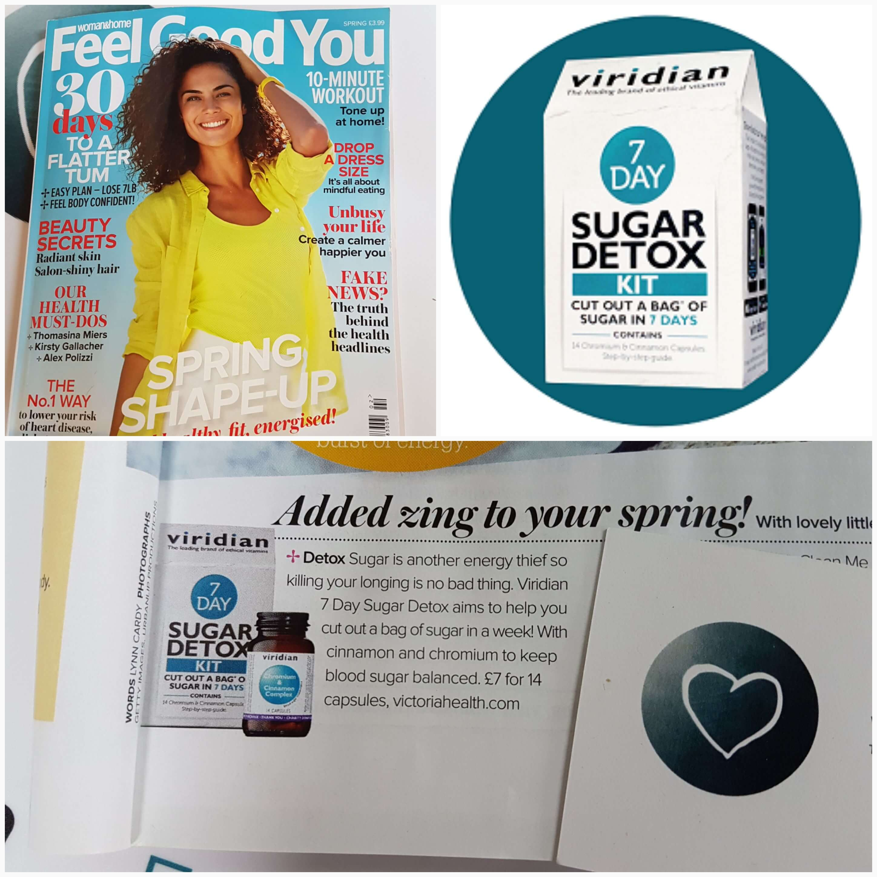 Viridian 7 Day Sugar Detox Kit appears in Feel Good You magazine