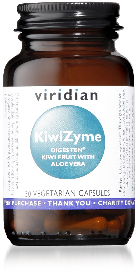 Viridian Nutrition offers a KiwiZyme supplement, sustainably grown in New Zealand
