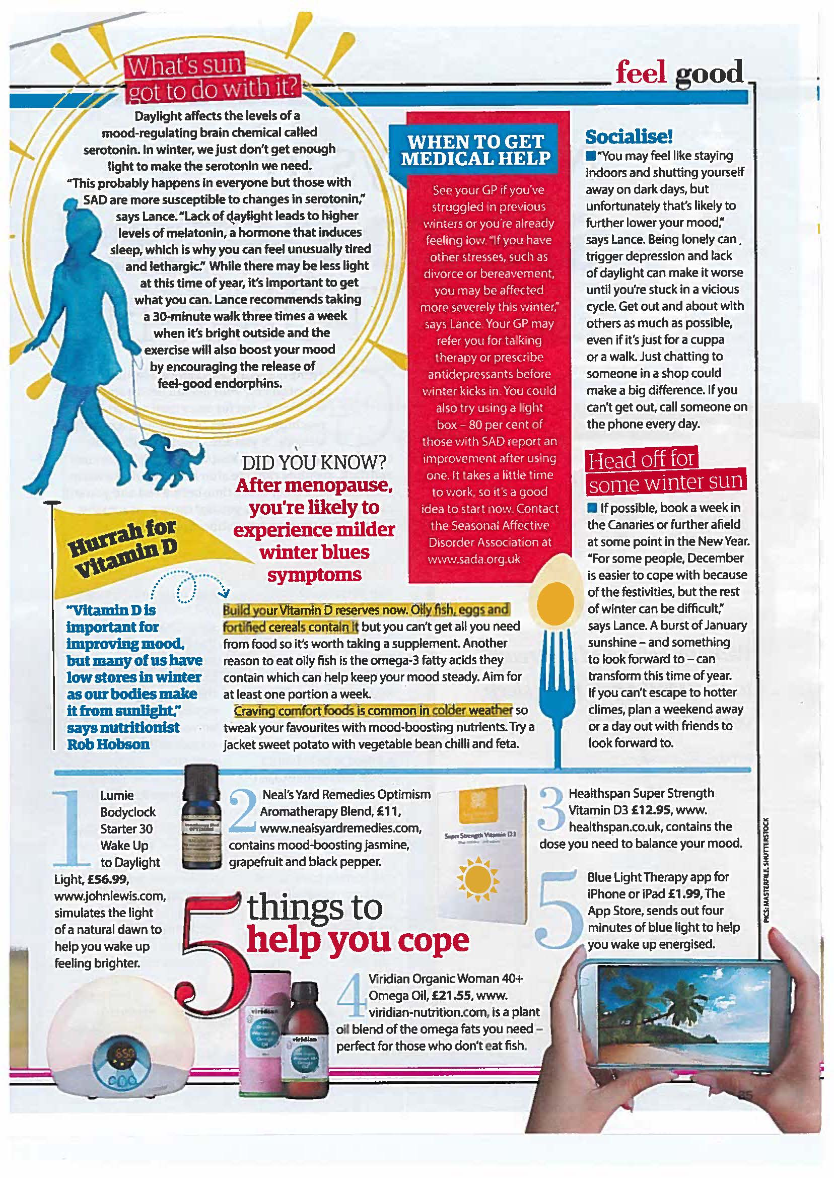 Viridian's Organic Woman 40+ Oil appears in Yours magazine