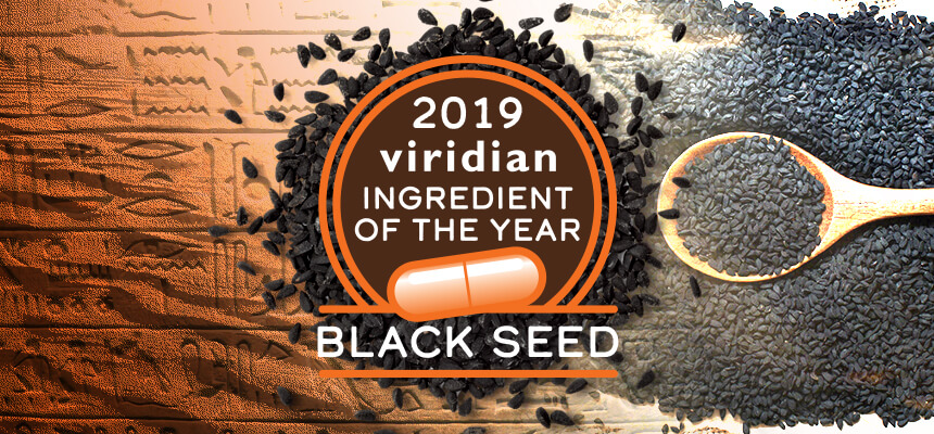 Viridian names Black Seed Ingredient of the Year 2019