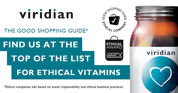 The Good Shopping Guide names Viridian Top for Ethical Vitamins
