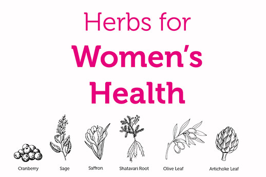 Six herbs for women's health
