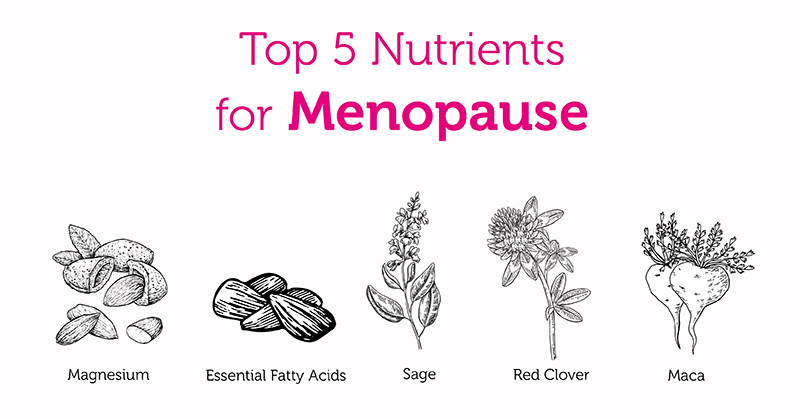 Top 5 Nutrients to Support You Through the Menopause